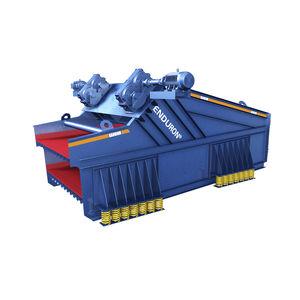 linear vibrating screener / for bulk materials / double-deck