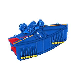 linear vibrating screener / for bulk materials / banana / double-deck
