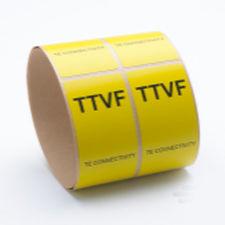 adhesive label / thermal transfer / printable / in polyvinylidene fluoride