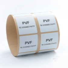 adhesive label / printable / thermal transfer / in polyvinylidene fluoride