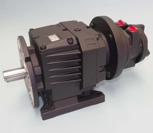 air motor with coaxial gearboxes