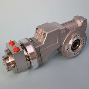 air motor with worm reduction gear / vane / compact / high-torque