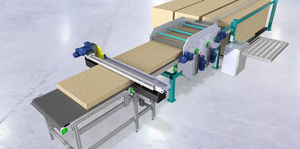 rotary blade cut-to-length cutting line