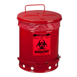 galvanized steel waste container