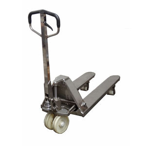 hand pallet truck / stainless steel / for the food industry / for the chemical industry