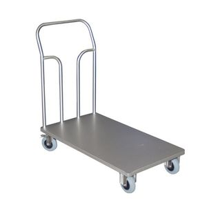 transport trolley / stainless steel / platform / for the food industry