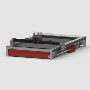 steel cutting machine / abrasive water-jet / PLC-controlled / precision