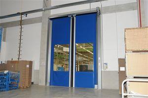 horizontal roll-up doors / PVC / industrial / exterior