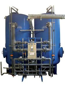 double-basket filter / granular / pressure