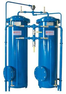 cartridge filter housing / for compressed air / duplex
