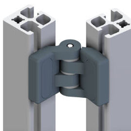 galvanized steel hinge / 270° / for aluminum profiles / for heavy-duty applications
