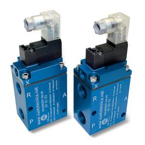 pilot-operated solenoid valve / 3-way / NC / NO