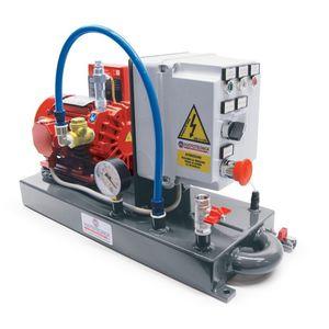 rotary vane pump vacuum unit / dry / lubricated / industrial