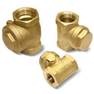 ball check valve / female / for vacuum / brass