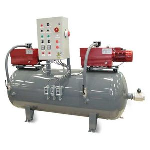 rotary vane pump vacuum unit / for laboratories / for medical applications / industrial