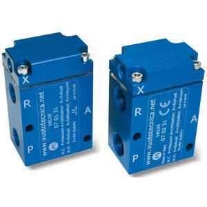 pneumatically-operated valve / servo-driven / aluminum / vacuum
