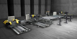 in-line welding and cleaning line