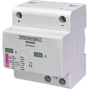 type 1 surge arrester / 2-pole / DIN rail / for photovoltaïc installations