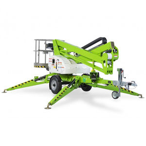 trailer-mounted articulated boom lift