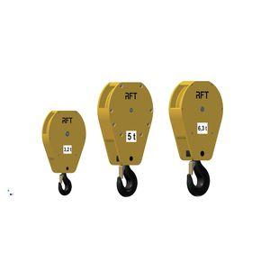 rotating hook / for heavy loads / double / steel