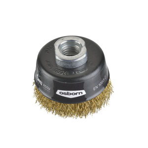 cup brush / cleaning / metal / crimped