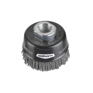 cup brush / cleaning / abrasive / nylon