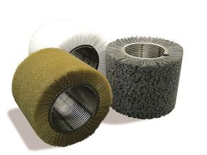 cylindrical brush / conveying / cleaning / deburring