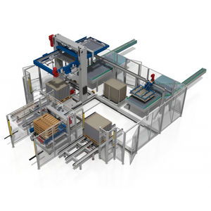 low level infeed depalletizer / for glass containers / for the food and beverage industry / automatic