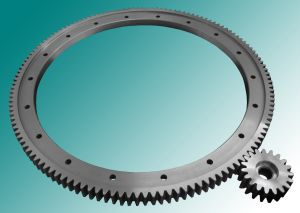 spur gear / straight-toothed / custom / flange
