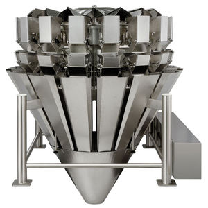 multihead weighing machine / for the food industry / with central feed / stainless steel