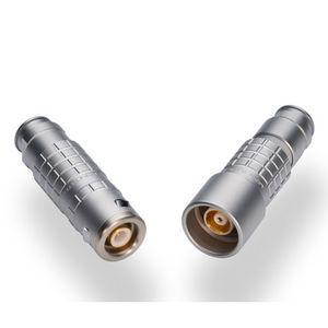 watertight connector / RF / triaxial / push-pull