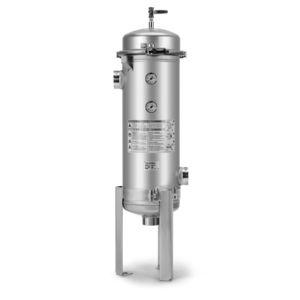 pocket filter housing / for liquids / high-flow