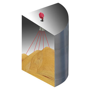 acoustic level sensor / for solids / for silos