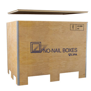 plywood pallet box / transport / folding / lightweight