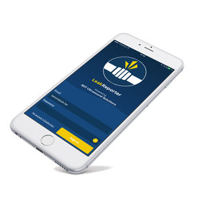 inspection mobile app / for leak detection / pipe / real-time