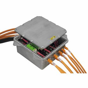 DC power distribution unit / modular / high-voltage / for electric vehicles