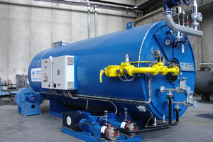 saturated steam steam generator / fuel oil / natural gas / fire tube