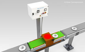 tunnel demagnetizer / for workpieces / compact / for robotic lines