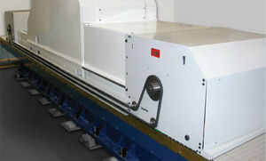 horizontal roll-up cover / metal / for machining centers / chain drive