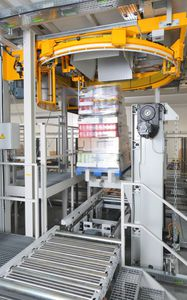 layer palletizer and depalletizer / robotic / for cans / automatic