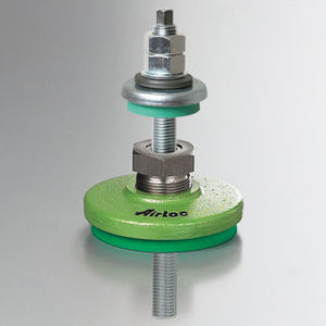 machine foot / elastomer / leveling / anchorable