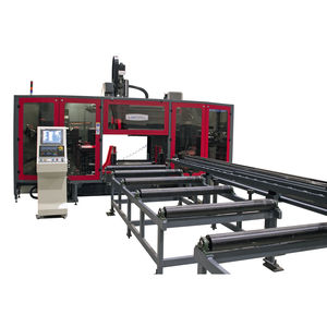 CNC drilling line / 3-spindle / beam
