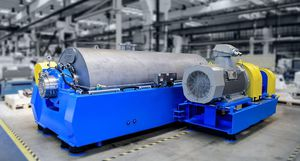 plastics recycling decanter / centrifugal / horizontal