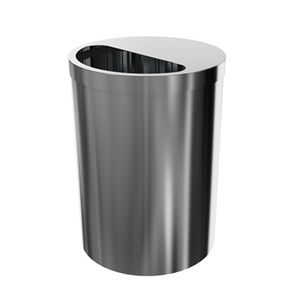 stainless steel waste bin / for clean rooms