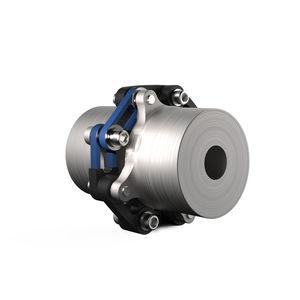 elastomer coupling / torsionally flexible / for shafts / transmission