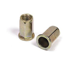 hexagonal nut / blind rivet / cap / cylindrical
