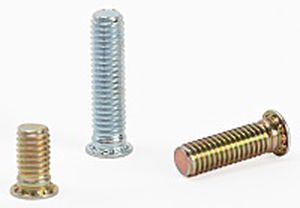 threaded stud / metal / welding / crimp-on