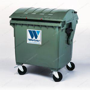 HDPE waste bin / for urban waste / round lid