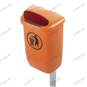 HDPE waste bin / for urban waste / lockable