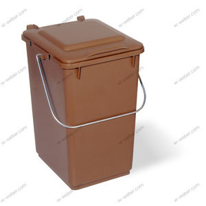 plastic waste bin / for household waste / with lid